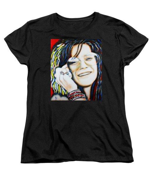 Janis Joplin Pop Art Portrait Women's T-Shirt (Standard Cut)