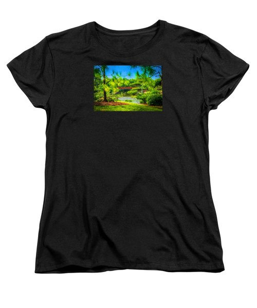 Japanese Gardens  Women's T-Shirt (Standard Cut) by Louis Ferreira