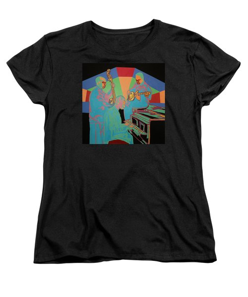 Jazzamatazz Band Women's T-Shirt (Standard Cut) by Angelo Thomas
