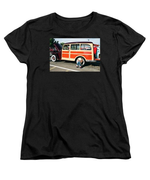 Women's T-Shirt (Standard Cut) featuring the photograph Jeepster by Vinnie Oakes
