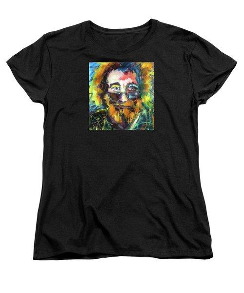 Jerry Garcia Women's T-Shirt (Standard Cut) by Les Leffingwell