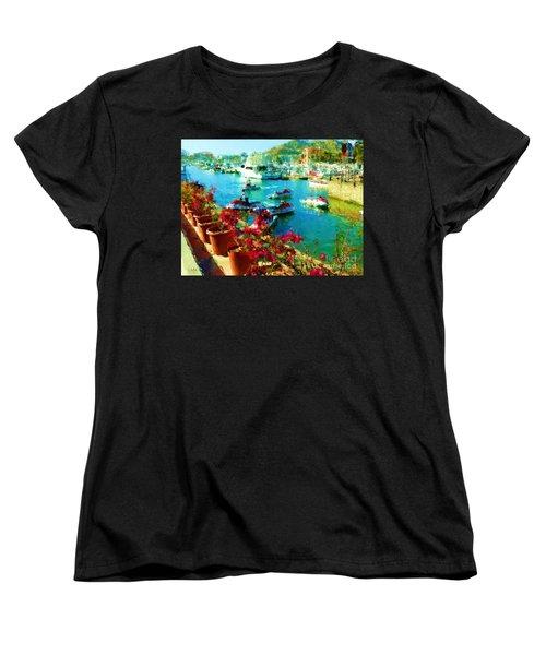 Jet Skis And Flowers Women's T-Shirt (Standard Cut) by Gerhardt Isringhaus