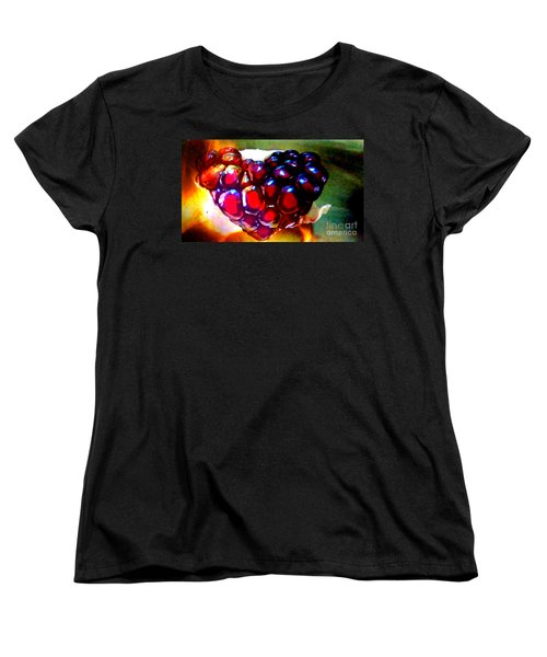 Women's T-Shirt (Standard Cut) featuring the painting Jeweled Heart In Light And Dark by Genevieve Esson