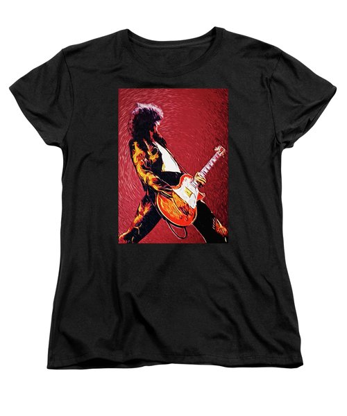 Jimmy Page  Women's T-Shirt (Standard Cut) by Taylan Apukovska