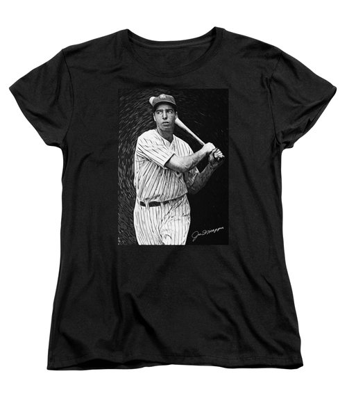 Joe Dimaggio Women's T-Shirt (Standard Cut) by Taylan Apukovska