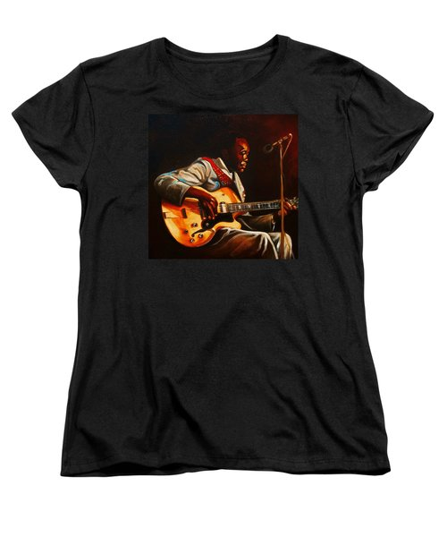 Women's T-Shirt (Standard Cut) featuring the painting John Lee by Emery Franklin
