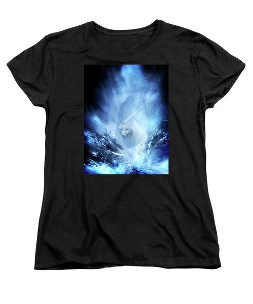 Jon Snow And Ghost - Game Of Thrones Women's T-Shirt (Standard Cut) by Lilia D
