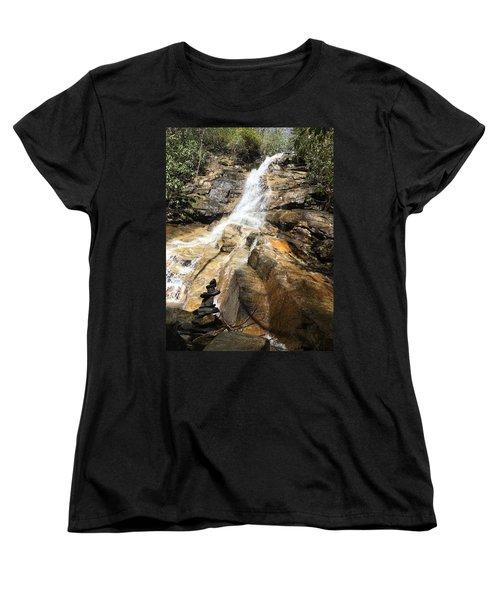 Jones Gap Falls And Monument Women's T-Shirt (Standard Cut) by Kelly Hazel