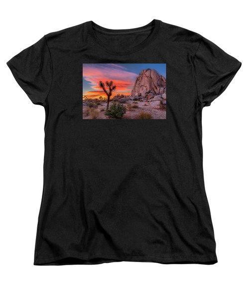 Joshua Tree Sunset Women's T-Shirt (Standard Cut) by Peter Tellone