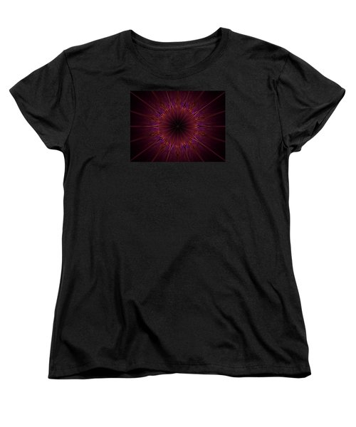 The Violet Blessings Of The Crown Chakra Women's T-Shirt (Standard Cut) by Ernst Dittmar