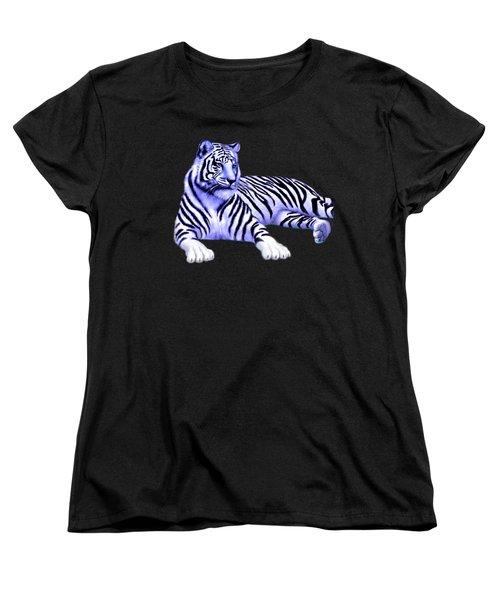 Jungle Tiger Women's T-Shirt (Standard Cut) by Glenn Holbrook