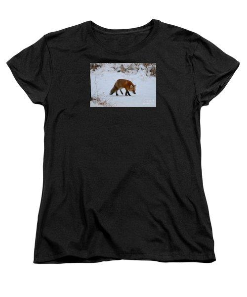 Just Hunting For Breakfast Women's T-Shirt (Standard Cut) by Sandra Updyke