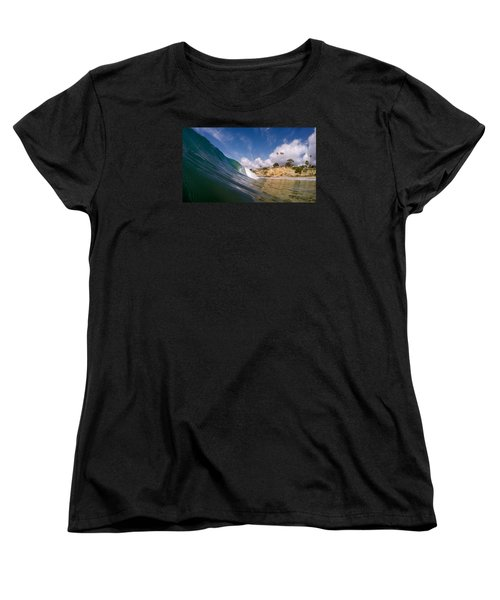 Women's T-Shirt (Standard Cut) featuring the photograph Just Me And The Waves by Sean Foster