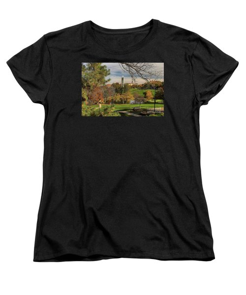 Kansas University Women's T-Shirt (Standard Cut) by Joan Bertucci