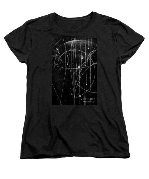 Kaon Proton Collision Women's T-Shirt (Standard Cut) by SPL and Photo Researchers