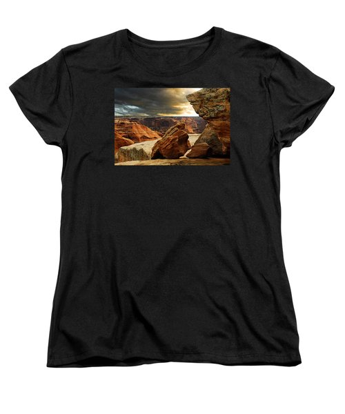 Women's T-Shirt (Standard Cut) featuring the photograph Kissing Rocks by Harry Spitz