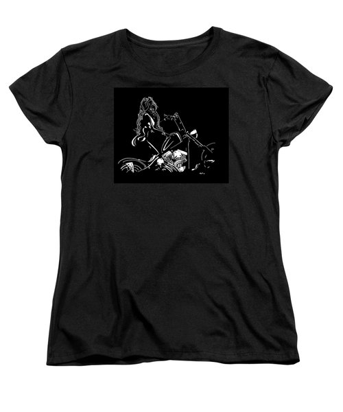 Kitty-kitty Women's T-Shirt (Standard Cut) by Mayhem Mediums
