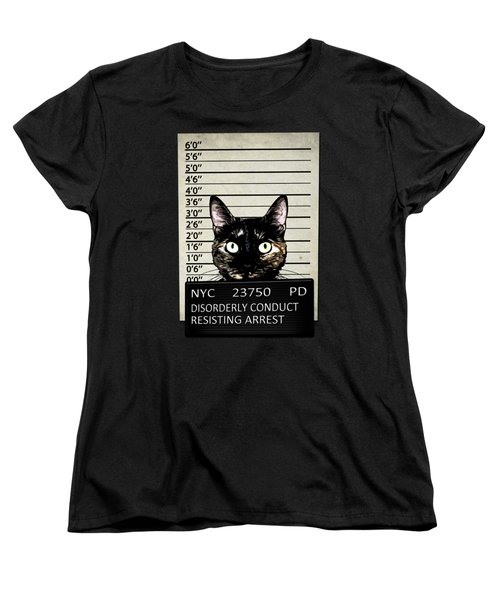 Kitty Mugshot Women's T-Shirt (Standard Fit)