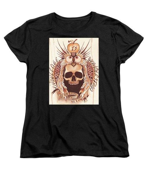 Knowledge Women's T-Shirt (Standard Cut) by Deadcharming Art