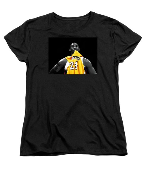 Kobe Bryant 04c Women's T-Shirt (Standard Cut) by Brian Reaves