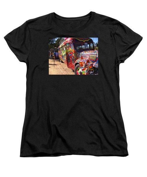 Kool Aid Acid Test Bus Women's T-Shirt (Standard Cut) by Kym Backland