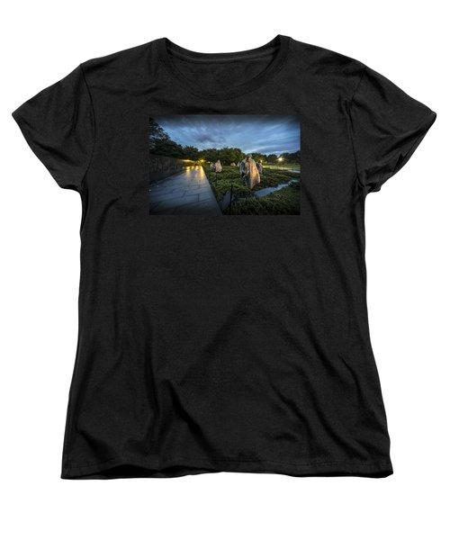 Women's T-Shirt (Standard Cut) featuring the photograph Korean War Memorial by David Morefield