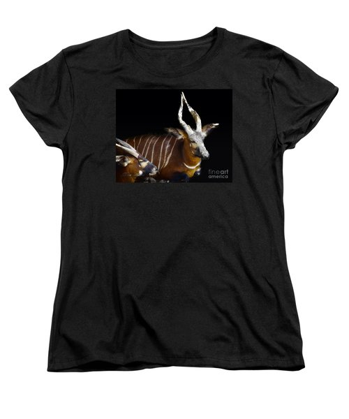 Kudo Resting Women's T-Shirt (Standard Cut) by Melissa Messick