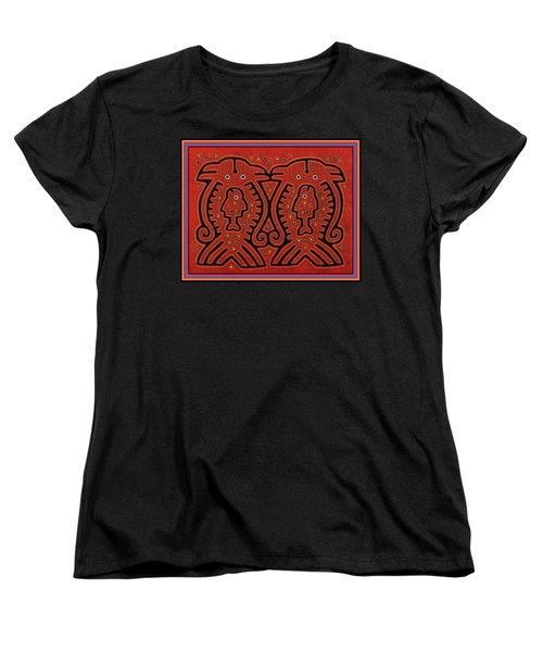Kuna Indian Skate Fish Women's T-Shirt (Standard Cut) by Vagabond Folk Art - Virginia Vivier