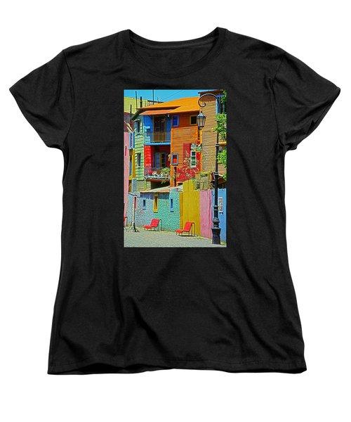 La Boca - Buenos Aires Women's T-Shirt (Standard Cut) by Juergen Weiss