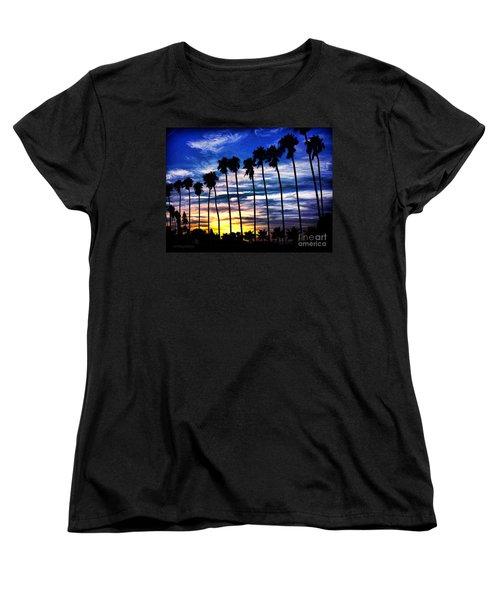 La Jolla Silhouette - Digital Painting Women's T-Shirt (Standard Cut) by Sharon Soberon