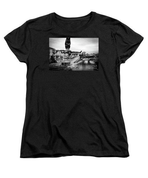 La Plongueuse Over The Midouze River Women's T-Shirt (Standard Cut) by RicardMN Photography