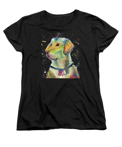 Labrador Retriever Art Women's T-Shirt (Standard Cut) by Melly Terpening