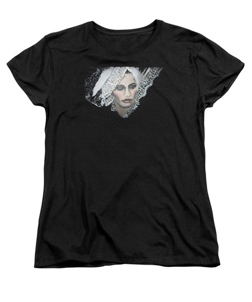Lace Transparent Women's T-Shirt (Standard Cut) by Vesna Martinjak
