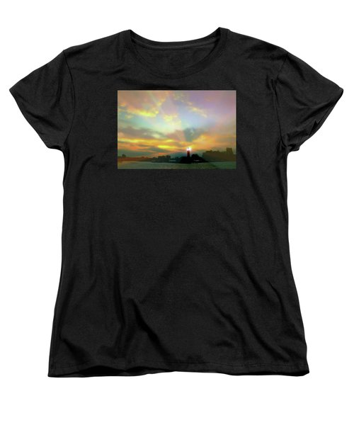 Women's T-Shirt (Standard Cut) featuring the photograph Lackawanna Transit Sunset by Diana Angstadt
