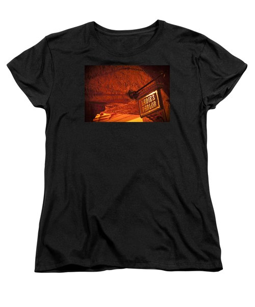 Women's T-Shirt (Standard Cut) featuring the photograph Ladies Parlor Sign by Carolyn Marshall