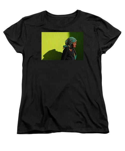 Lady In Green Women's T-Shirt (Standard Cut)