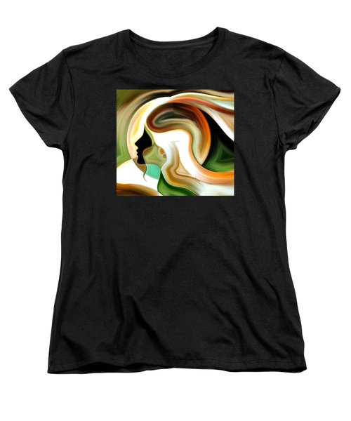 Women's T-Shirt (Standard Cut) featuring the painting Lady Of Color by Karen Showell