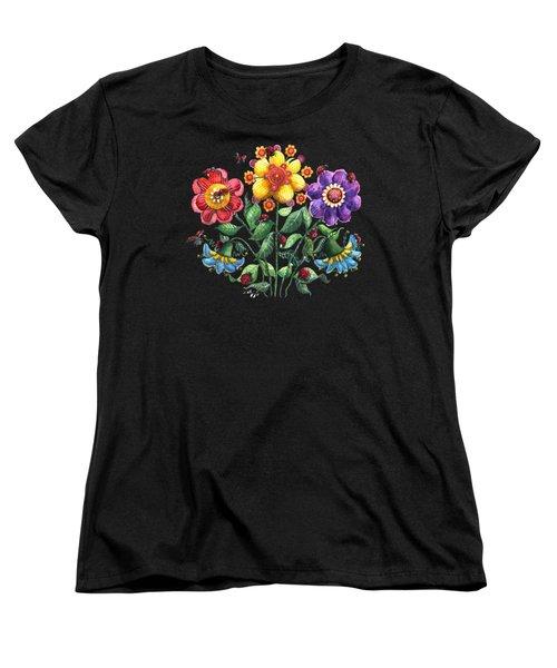 Ladybug Playground Women's T-Shirt (Standard Cut) by Shelley Wallace Ylst