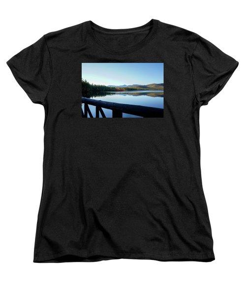 Lake Chocorua Autumn Women's T-Shirt (Standard Cut) by Nancy De Flon