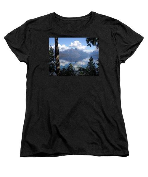 Lake Mcdonald Glacier National Park Women's T-Shirt (Standard Cut) by Marty Koch