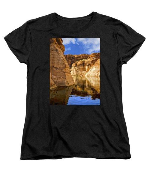 Lake Powell Stillness Women's T-Shirt (Standard Cut) by Dominic Piperata