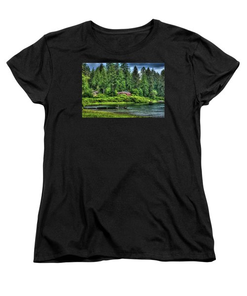 Lake Quinault 3 Women's T-Shirt (Standard Cut) by Richard J Cassato
