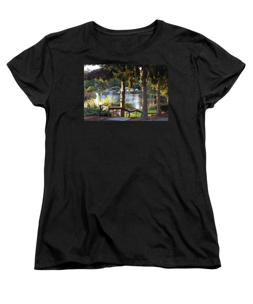 Beverly Lake View In Fall Women's T-Shirt (Standard Cut) by Judyann Matthews