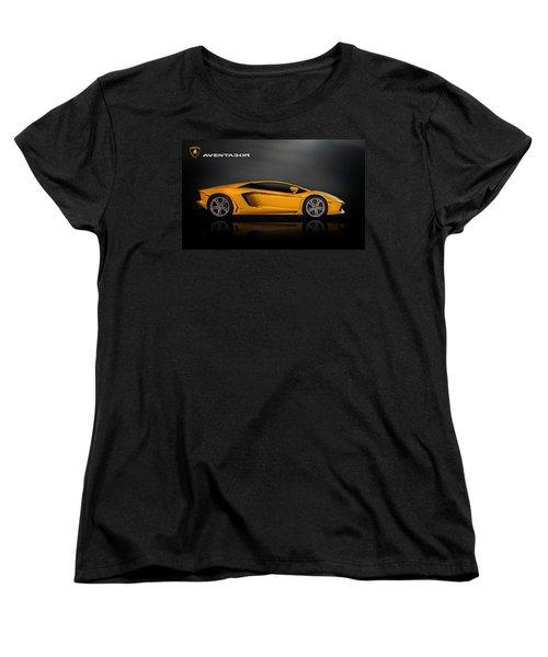 Lamborghini Aventador Women's T-Shirt (Standard Cut) by Douglas Pittman