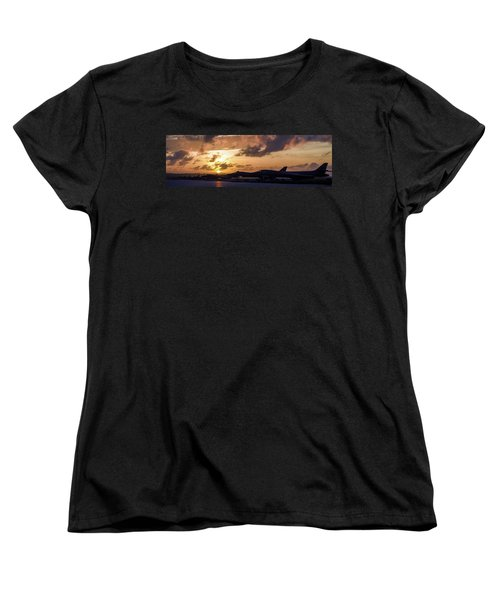 Women's T-Shirt (Standard Cut) featuring the photograph Lancer Flightline by Peter Chilelli