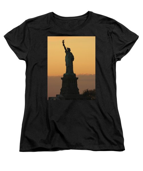 Women's T-Shirt (Standard Cut) featuring the photograph Land Of The Free And The Brave by Emmy Marie Vickers