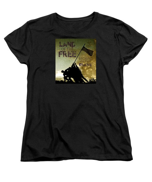 Women's T-Shirt (Standard Cut) featuring the digital art Land Of The Free by Dawn Romine