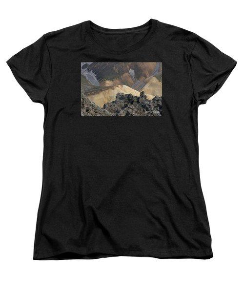 Landmannalaugar Iceland 3 Women's T-Shirt (Standard Cut) by Rudi Prott