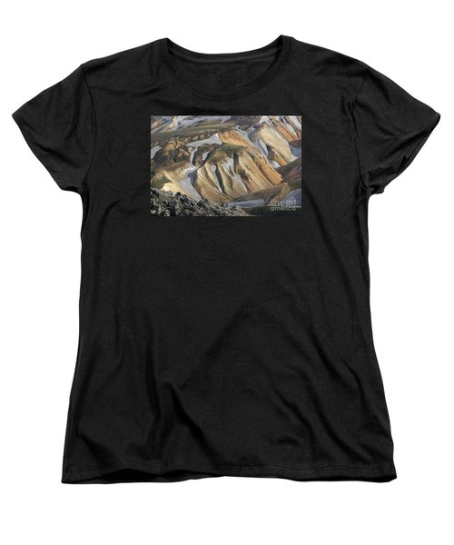 Women's T-Shirt (Standard Cut) featuring the photograph Landmannalaugar Iceland by Rudi Prott