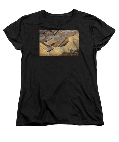 Women's T-Shirt (Standard Cut) featuring the photograph Landmannalaugar Natural Art Iceland by Rudi Prott
